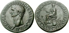 Nero Claudius Drusus. Died 9 BC.  Sestertius (28.82 g, 6h). Rome mint. (Joe Geranio) Tags: coin all coins romanempire courtesy iconography arthistory romanart texts romancoins romansculpture classicalart 1stcenturyad princeps julioclaudian romanportrait neroclaudiusdrusus joegeranio julioclaudianportraitstudy celator earlyromanempire firscenturyad julioclaudianportraitstudyromanbust ancientromanimages cngcoinscom