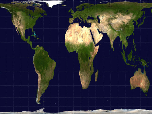 地球平面展开图素材