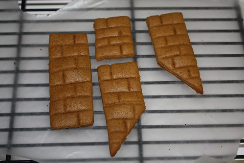 Chimney pieces after baking