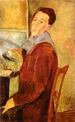 Amedeo Modigliani. Self-Portrait. 1919. Oil on canvas. 100 x 64.5 cm. Museu de Arte Contemporanea da Universidade, San Paulo, Brazil (renzodionigi) Tags: portrait painting design engraving autoritratto ritratto arts fine selfportrait