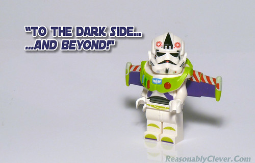 """To The Dark Side...and beyond!"" - Buzz Stormtrooper"