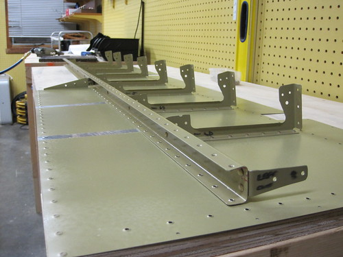Rear Spar and Shear Clips Installed