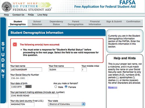 original fafsa website