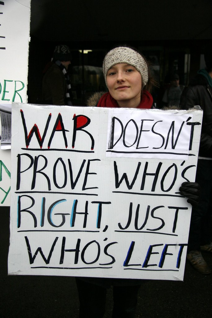 War Doesn't Prove Who's Right, Just Who's Left