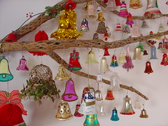 Bells Without Birds (raining rita) Tags: christmas new bells vintage plethora tintinnabulating chollacactusbranch
