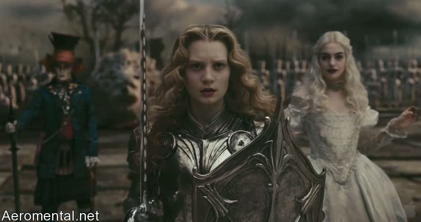 Silver armor Alice in Wonderland
