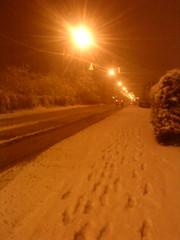 Des pas sur la neige