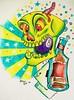 new school skull flash tattoo design Craigy Lee Tattoo