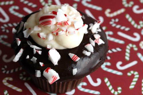 Peppermint Bark Cupcake