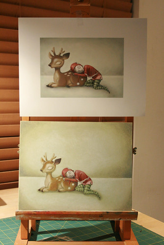 Reindeer & Elf - Trad. & digital comparison
