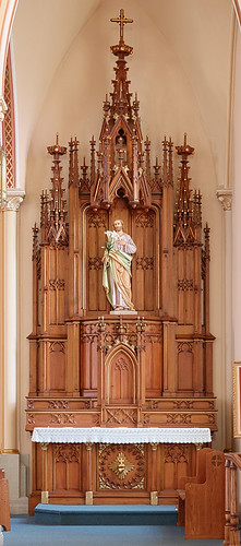 Saint Francis of Assisi Roman Catholic Church, in Aviston, Illinois, USA - altar of Saint Joseph