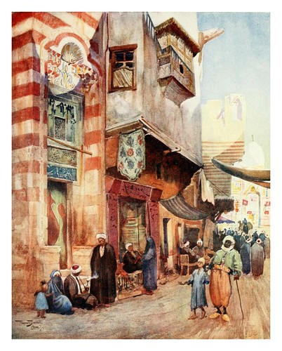 028-Una escena callejera en el Cairo-Cairo, Jerusalem, and Damascus..1907- Margoliouth D. S.