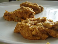 pumpkin walnut cookies - 23