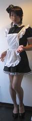 IMG_4608: Maid uniform. Let me serve you (mimo-momo) Tags: feminine bib leg apron maids pinafore pinny frilly tablier domesticated frills kittel mucama schort malemaid meninaprons schortje bibbedapron sissymaidsapron epuron