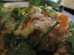 Noodle & Pork Salad - Ban Lao, Vientiane, Laos