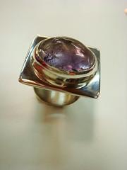 Anillo amatista Paola (Cobres Del Aconcagua_ Curso de capacitacin de or) Tags: anillos