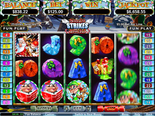 Santa Strikes Back slot game online review