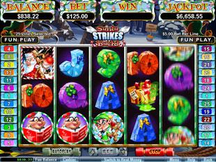 Santa Strikes Back slot game online review
