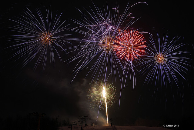 New Year's Eve Fireworks - Mont Tremblant, Quebec