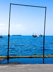 The sea, framed