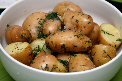 Boiled Potatoes in Herbed Butter
