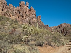 Hiking in the Superstition Mountains Photo