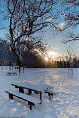 Snowy Leeds (Hadi Al-Sinan Photography) Tags: park blue sunset sky urban rural canon landscape photography university shot snowy mark united leeds kingdom daily best hyde ii 5d woodhouse 2010 hadi 2470mm 2470 photosoc  exposureleeds  alsinan