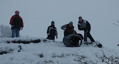 Danny's Turn 1 (cn174) Tags: snow lancashire bin sledding snowing sledge sledging compostbin birkacre coppull