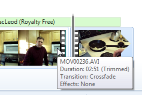 Split video clip in Windows Live Moviemaker