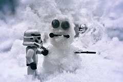 Stormy Snowman (andyathlon) Tags: blue white snow storm trooper man black ice prime star starwars snowman lego duo sony sigma stormy stormtrooper wars 24mm clone toned clonetrooper a700