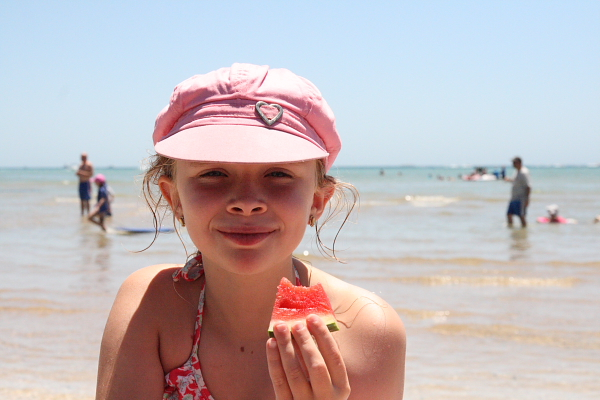 Watermelon at the beach