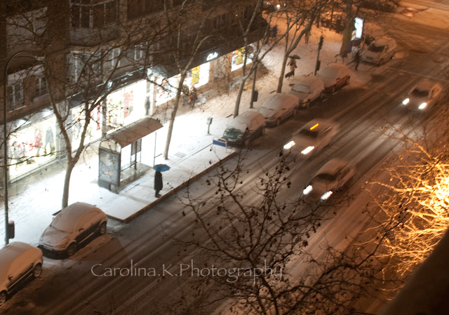 21:10, Snowing in Madrid- January 10, 2010