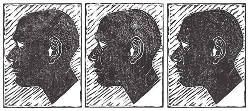 Self Portrait Linocut Prints