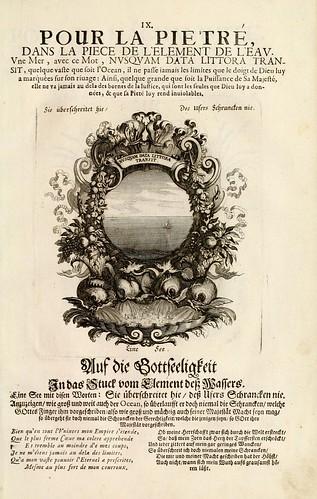 012- Divisa del tapiz el agua para la piedad-Tapisseries du roy, ou sont representez les quatre elemens 1690- Sebastien Le Clerc