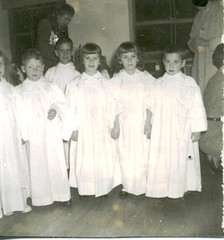 Kindergarten Angels at St John School in Seward, Nebraska, in 1954