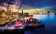 [フリー画像] [人工風景] [港の風景] [シンガポール風景]        [フリー素材]