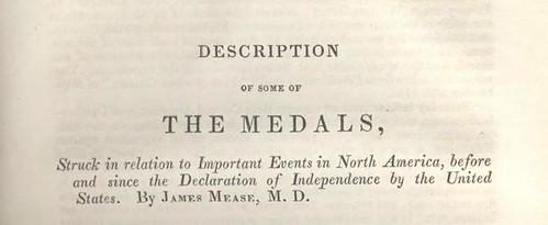 Mease Description of Some Medals 1834