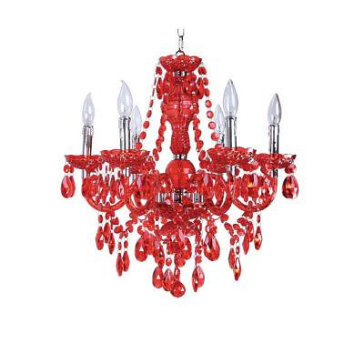 Hello kitty lamps boughtvintage glass chandelier similar vintage chandeliers on bought a vintage red glass chandelier similar to this one at a mozeypictures Image collections