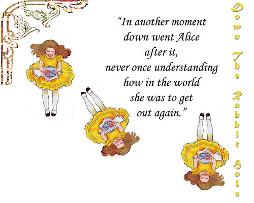 alice-down-the-rabbit-hole-with-frame-and-words