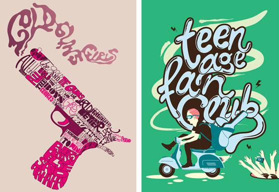 tipografías en dibujos
