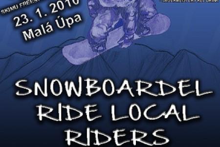 Snowboardel Ride local riders v rámci Skimu freestyleZOO park openingu