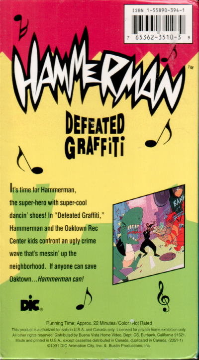 Defeated Graffiti VHS back