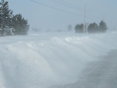 Five feet and rising (jimsawthat) Tags: winter snow cold rural wind kansas roads blizzard drifts olathe