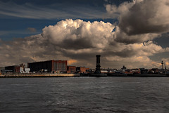 North Docks, Liverpool (Dave Wood Liverpool Images) Tags: sky tower clouds liverpool google victoria warehouse photographs tobacco merseyside googlecom rivermersey googlecouk liverpoolpics liverpoolpictorial liverpoolinmages picturesliverpool photosliverpool
