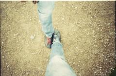 Hey girl hey boy (Fl:ckrnauta) Tags: film lomo lca shoes eli legs lomolca io vista agfa camper elisa c41 pellicola agfavista200