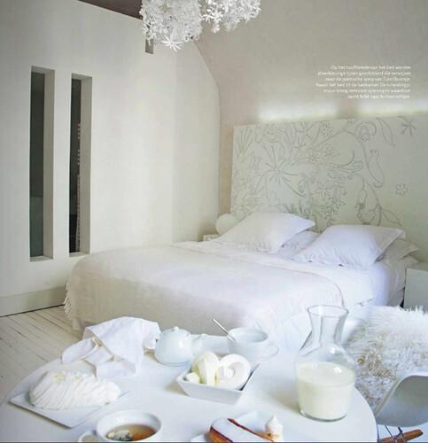 Woonkamer Ideeen Behang : Landelijke slaapkamer behang spscents