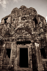 Entrance (civ33) Tags: sky stone clouds temple carved asia cambodia entrance relief siemreap angkor bayon angkorthom