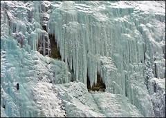 Weeping Wall, Frozen Tears (Place-in-Time) Tags: pentax iceclimbing banffnationalpark frozenwaterfall weepingwall banffalberta k200d