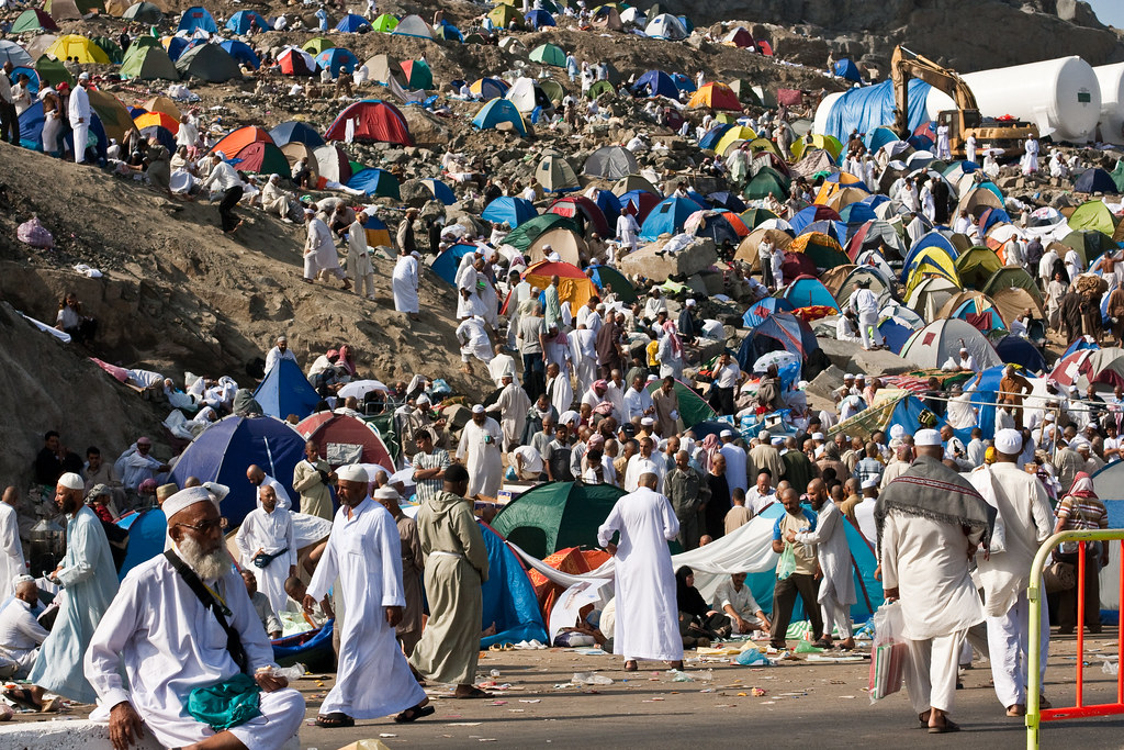 Hajj, Pilgrims, Mecca, Pilgrim camp at Mina