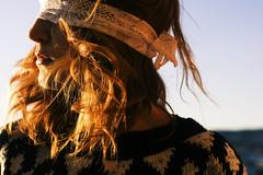 Onehundredandsixtyfive. (ninatakespictures) Tags: light portrait sun sunlight selfportrait norway lace trondheim blindfold 365days eyefold